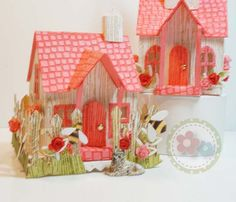 I have seen so many Winter Scenes using the Tim Holtz Village Dwelling and Bell Tower I wanted to produce something around Summer. I know I've skipped a Season … I'll just have to…