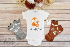 This cute Mommy and me bodysuit or tshirt makes the perfect addition to your little ones wardrobe! Makes a great Baby Shower Gift. Perfect for Boho, Rustic, Woodland Critters, Owl Lovers and more.  We use Onesies® brand one-piece underwear by Gerber. We always recommend going up a size as babies grow fast and its always better for your Boho Babe to grow into the clothing. Gerber Brand Onesies® run a size small.  Packaging: You can expect that our adorable clothing comes packaged beautifully…