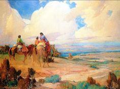 Gerald Cassidy (1879-1934) Navajos On The Way To Laguna Fiesta