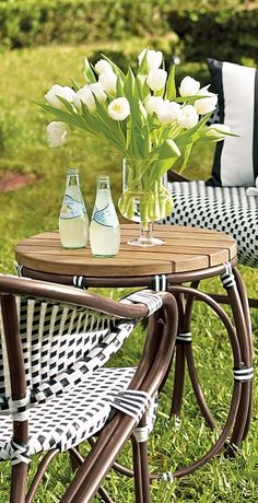 The Monet Cafe Side Table channels the look of a Parisian Cafe...