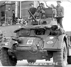 Soldiers on trucks thought fought during the war, and machine guns on it used to shoot people while driving.
