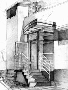 Perspektif ds mekan cizimi oda izimleri perspektif in 2019 Architecture Sketchbook, Facade Architecture, Architecture Student Portfolio, Perspective Drawing Lessons, Perspective Art, Pencil Sketches Landscape, Archi Design, Color Pencil Art, Elevation Drawing