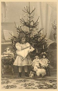 Christmas Dolls   - photo - turn of Century Antiques