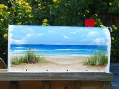 hand painted mailbox designs. HaND PaiNTeD FLaG MaiLBoX DuNe BeaCH GaRDeN ART CoaSTaL DeCoR NauTiCaL Hand Painted Mailbox Designs A