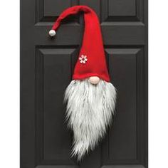 IN STOCK The sweetest Gnome Santa Face available in two sizes. Use in a wreath or hang it by itself for a festive Christmas look. (Wreath photos for illustratio Christmas Gnome, Outdoor Christmas, Christmas Projects, Holiday Crafts, Scandinavian Gnomes, Scandinavian Christmas, Hanging Christmas Lights, Christmas Decorations, Christmas Ornaments