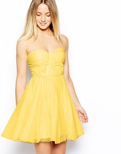 Image 1 of ASOS Bandeau Dress With Twisted Bodice