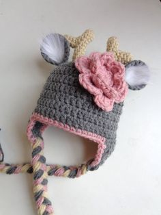 Newborn Crochet Deer Hat Photo Prop Boy by 3JoyfulHeartsDesign, $18.00