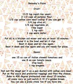 Barnaby's Pizza - The Recipe Pizza Recipes, Veggie Recipes, Wine Recipes, Cooking Recipes, Stromboli, Calzone, Pizza Pizza, Pizza Dough, How To Make Pizza