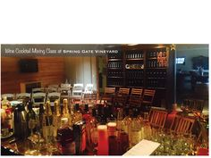 Spring Gate Vineyard WINE COCKTAIL mixing and tasting class. Food Events, Cocktail Mix, Wine Cocktails, Liquor Cabinet, Gate, Vineyard, Spring, Home Decor, Homemade Home Decor