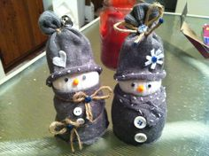 Gray sock snowmen |Pinned from PinTo for iPad|