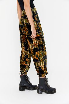 UO Penelope Velvet Jogger Pant | Urban Outfitters