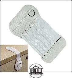 10 PC Protector Pestillo Seguridad Para Armarios Cajones Seguro Bebé  ✿ Seguridad para tu bebé - (Protege a tus hijos) ✿ ▬► Ver oferta: http://comprar.io/goto/B01N0ZT8KM