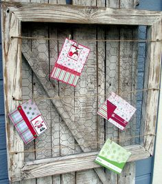 Cute idea especially for the kitchen!     Distressed Black Reclaimed Wood Picture Memo by SoPurdyCreations, $47.00