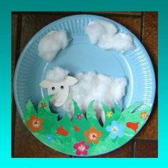 Paper Plate Crafts 545146729872380598 - schaap bordje Source by nadiaboudinar Paper Plate Art, Paper Plate Crafts, Paper Plates, Craft Activities, Preschool Crafts, Easter Crafts, Fun Crafts, Crafts For Kids, Arts And Crafts