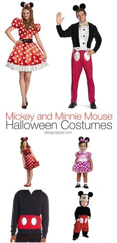 This post has 21 Mickey and Minnie costumes for women, men, children, and babies alike! I'm sure you'll find something that fits your needs! | halloween costume ideas | disney themed halloween costumes | adult halloween costumes | kids halloween costumes || Design Dazzle #halloween