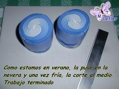 FIMO MANUALIDADES de MT: CAÑA REMOLINO (AZUL Y BLANCO)