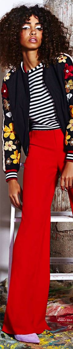 Alice + Olivia Resort 2017 Fashion 2017, New Fashion, Womens Fashion, Winter Typ, What's Your Style, Models, Clothing Company, Sewing Clothes, Colorful Fashion