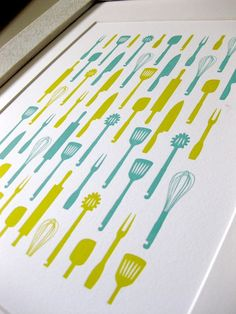 kitchen- what if i bought utensils (at dollar tree) and glued to a canvas... no knives of course! ;-)