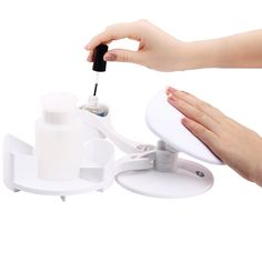 MAKARTT® Manicure and Pedicure Set Nail Studio Nail Polish Holder Stand and Rest DIY Home Nail Art Nail Salon Mani Pedi Station * You can find out more details at the link of the image.