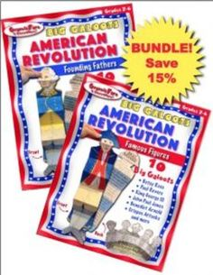 AMERICAN REVOLUTION BUNDLE: Save 15%Founding Fathers and Famous FiguresThis is a BUNDLE of two Big Galoot Foldables.AMERICAN REVOLUTION: Founding FathersBig Galoot FoldablesAMERICAN REVOLUTION: Famous FiguresBig Galoot FoldablesStudents will love learning about the exciting lives of TWENTY Famous Figures and Founding Fathers from the tumultuous days of the American Revolution and responding to what they learn by creating a Big Galoot for each of these courageous and complex men and women.