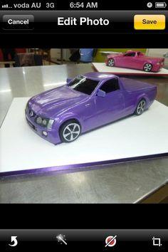 3D Holden ute cake!
