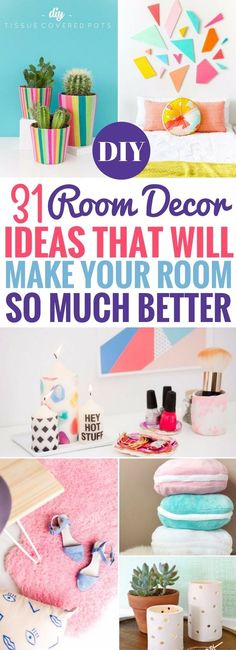 diy for teens I cant get over these DIY Room Decor Ideas. Pretty and gorgeous things you can make that will make your room decor look its best! Easy to make and wow, Im totes heading over again to try out that macaroon pillow now. Diy Crafts For Teens, Easy Diy Crafts, Diy For Girls, Fun Crafts, Magic Crafts, Adult Crafts, Kids Diy, Kids Girls, Easy Diy Room Decor