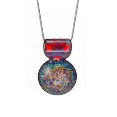 Nebula Implosion Glass Necklace