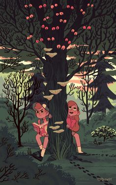 """Exclusive: See 9 New Images from the Gravity Falls Art Show Here's an exclusive look at new images from the Gravity Falls Art Show. A Walk in the Woods"""" by Sara Kipin. Dipper Et Mabel, Mabel Pines, Dipper Pines, Art Gravity Falls, Gravity Falls Poster, Reverse Gravity Falls, Gravity Falls Dipper, Gravity Falls Comics, Reverse Falls"""