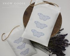 Butterfly Lavender Bag in mauve from www.snowgooseuk.com