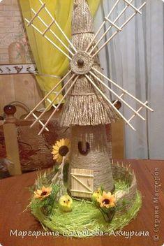 Наконец-то и у меня есть мельница! ура! Я ее осилила! Diy Crafts For Gifts, Diy Home Crafts, Diy Arts And Crafts, Crafts For Kids, Handmade Decorative Items, Coffee Bean Art, Windmill Decor, Recycled Crafts Kids, Cute Diy Projects