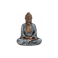 Woondecoratie Boeddha beeldje 23 cm  Boeddha beeldje brons/zilver. Dit beeldje van een Boeddha is gemaakt van polystone en heeft een formaat van ongeveer 18 x 11 x 23 cm.  EUR 17.95  Meer informatie