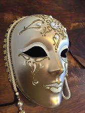 Decor authentique fait main papier mâché vénitiens made in italy grand masque