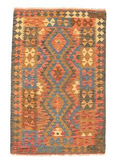 Kilim Afghan Old style rug 3′1″x4′7″