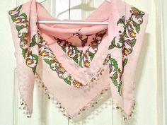 Hand block printed Turkish cotton Yazma scarf  cotton by Nezihe1