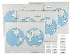 Hemisphere Maps And Labels Set 613947268