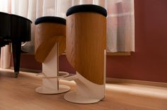 BAR STOOLS Designed with the idea of 'HE and SHE'. Designer Bar Stools, Furniture Design, Lighting, Home Decor, Decoration Home, Light Fixtures, Room Decor, Lights, Lightning