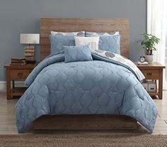 VCNY Blaire Metropolis 8Piece Comforter Set Light Blue King *** BEST VALUE BUY on Amazon