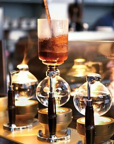 Blue Bottle Coffee, San Francisco; must try their Siphon Coffee, Kyoto Cold Brew and of course, a Gibraltar!