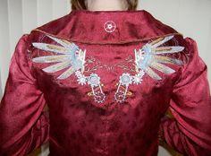 Detail on back of Steampunk jacket.