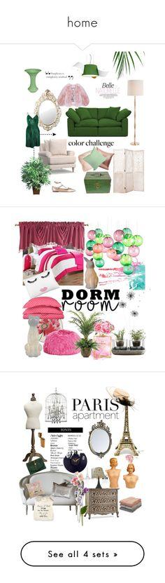 """home"" by salladaciana1 ❤ liked on Polyvore featuring interior, interiors, interior design, home, home decor, interior decorating, Joybird, Pottery Barn, Arteriors and Abigails"