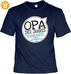 T-Shirt für Opa: Opa des Jahres. Vorbild, Kumpel, Handwerker, Beschützer,.... - Geschenk, Geburtstag - navyblau (*Partner-Link)