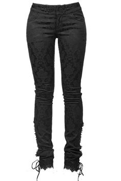 Rogue Baroque Trousers by Punk Rave are made from gorgeous brocade cotton. These high-quality pants are the perfect choice for any Goth-aristocrat!