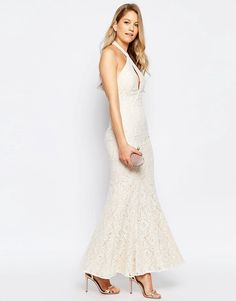 Signature lace maxi dress