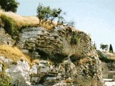 "Golgotha Hill or ""the place of the skull,"" is said to be the place where Jesus was crucified.    Read more: http://www.beliefnet.com/JesusDaily/Features/15-Places-in-the-Holy-Land-to-Visit.aspx#ixzz1oEeI35IA"