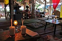 Thailand Railay Beach,(Skunk Bar is a must do)..excellent cocktails!!a great place to stay for a couple of days!
