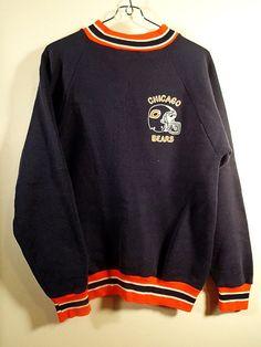 Chicago Bears vintage Sweatshirt  USA MADE Size by pursenbootz, $29.99