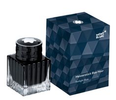 Picture of Montblanc Fountain Pen Ink Bottle Meisterstuck Blue Hour Twilight Blue