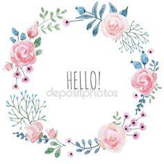 Herunterladen - Aquarell Blumen Kranz — Stockbild #131413964