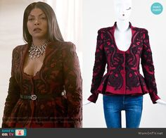 e5d5dc6257b Cookie s red embroidered peplum jacket on Empire