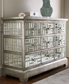 Gatsby Beveled Mirror Glamour Chest  furniture